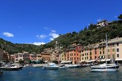 Portofino bonito, Itália Fotos de Stock Royalty Free