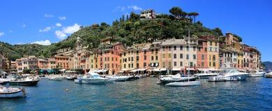 Portofino bonito, Itália Foto de Stock Royalty Free
