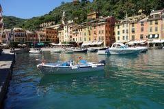 Portofino bonito, Itália Foto de Stock