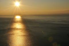 Portofino coast landscape 2. Sunset landscape on sea in portofino Royalty Free Stock Photo