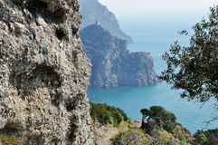 Portofino coast landscape Stock Photography