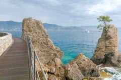 Portofino. Coastline Cinque Terre. Stock Photo