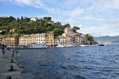 Portofino colorful facades of the houses on the sea Royalty Free Stock Image