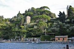 Portofino detail of the yacht club pier Stock Photography