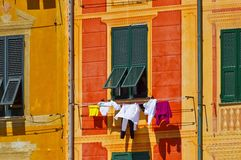 Portofino dry clothes Stock Image