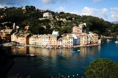 Portofino Génova en Liguria Italia Fotografía de archivo libre de regalías