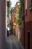 Portofino, Genoa, Italy. Beautiful alley. Portofino, Genoa, Italy Beautiful alley near the sea Stock Photo