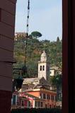 Portofino, genua, Liguria, Włochy, włoszczyzna Riviera, Europa Zdjęcia Stock