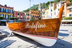 Portofino gränsmärkedetalj arkivbild