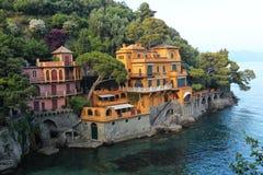 Portofino hamn Arkivbilder
