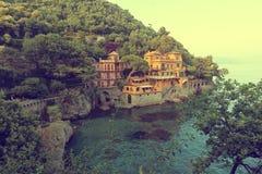 Portofino hamn Royaltyfri Bild