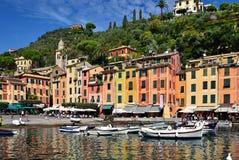 Portofino hamn i Liguria Royaltyfria Foton