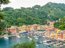 Portofino harbor aerial view Stock Photography