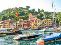 Portofino harbor and yachts Royalty Free Stock Photos