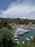 Portofino harbour. Portofino is an Italian fishing village and upmarket resort famous for its picturesque harbour.It is a town located in the province of Genoa Royalty Free Stock Photo