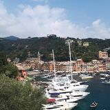 Portofino Harbour, marina, harbor, sky, port. Portofino Harbour is marina, port and coast. That marvel has harbor, sea and boat and that beauty contains sky royalty free stock images
