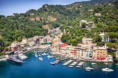 Portofino Italië stock foto's