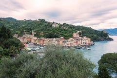 Portofino in Italië Stock Foto