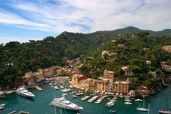 Portofino, Italian Riviera, Liguria, Italy. Portofino is a small Italian fishing village, a popular resting place for millionaires stock image