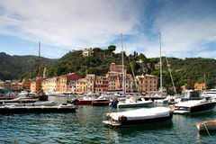 Portofino, Italian Riviera, Liguria, Italy. Portofino is a small Italian fishing village, a popular resting place for millionaires royalty free stock image