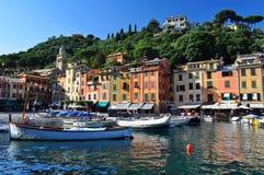 Portofino by, Italien, Europa arkivfoton