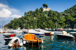 Portofino italienare Riviera, Italien Royaltyfri Foto
