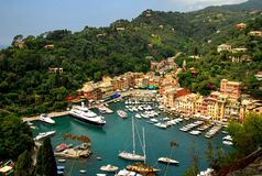 Portofino, Italy. The famous resort of Portofino in Italy Stock Photos
