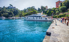 Portofino, Italy : Luxury Boat II Stock Photo