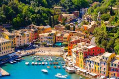 Architecture of Portofino, Italy Royalty Free Stock Photo