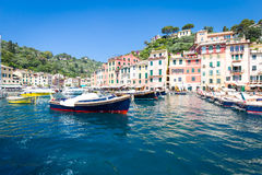 Portofino, Italy - Summer 2016 - view from the sea Royalty Free Stock Photo