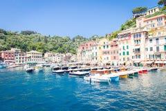 Portofino, Italy - Summer 2016 - view from the sea Royalty Free Stock Photos