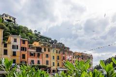 Portofino in Ligurië in Italië royalty-vrije stock afbeelding