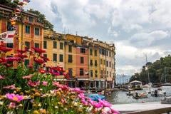 Portofino in Ligurië in Italië royalty-vrije stock afbeeldingen
