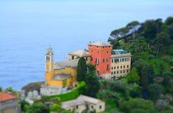 Portofino, Liguria, barco de Italy fotografia de stock