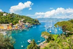 Portofino, Liguria, barco de Italy Imagenes de archivo