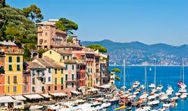 Portofino Liguria, Italien Arkivfoton