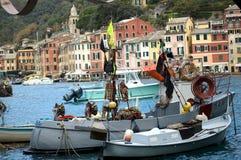 Portofino in Ligurien, Italien lizenzfreies stockbild