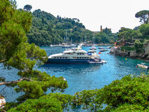 Portofino luksusu jacht Zdjęcia Stock