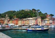Portofino op Italiaanse Riviera royalty-vrije stock foto