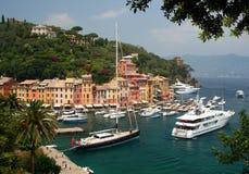 Portofino op Italiaanse Riviera Stock Foto