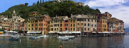 View of the Portofino in Italy royalty free stock photography