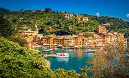 Portofino picturesque ligurian colourful town - Genoa - Italy Stock Photos