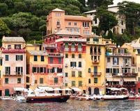 Portofino's buildings. A view of Portofino buildings and marine, Italy Royalty Free Stock Image