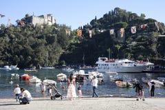 Portofino`s harbour, Genova, Liguria, Italy. Portofino`s harbour in Portofino village, Genova, Liguria, Italy royalty free stock photos