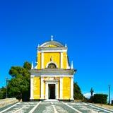 Portofino, San Giorgio catholic church landmark. Liguria, Italy Royalty Free Stock Images