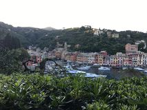 Portofino from the sky Stock Images