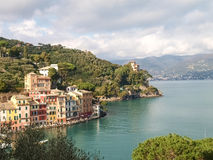 Portofino the tipical house at the Harbor Royalty Free Stock Images
