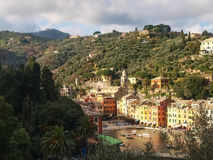 Portofino the tipical house at the Harbor Royalty Free Stock Image