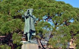 Portofino town statue Stock Image