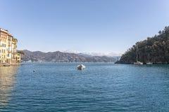 Portofino turist- semesterort av den Ligurian Rivieraen Royaltyfri Foto